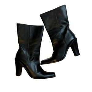 Steve Madden Hera Boot Leather Black Shoes Size 9